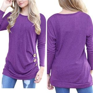 Soft long sleeve with buttons maternity shirt